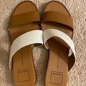Dolce Vita Brown and White Sandals